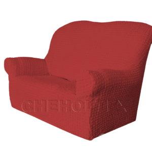 Чехол Модерн на 2-х местный диван, цвет Бордовый