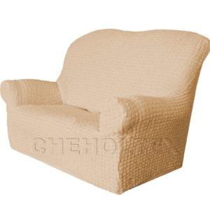 Чехол Модерн на 2-х местный диван, цвет Какао