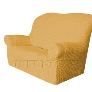 Чехол Модерн на 2-х местный диван, цвет Медовый