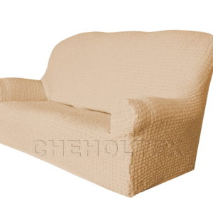 Чехол Модерн на 3-х местный диван, цвет Какао