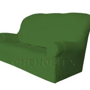 Чехол Модерн на 3-х местный диван, цвет Зеленый
