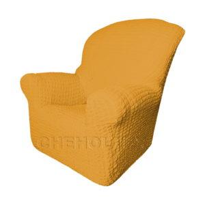 Чехол Модерн на кресло, цвет Горчичный