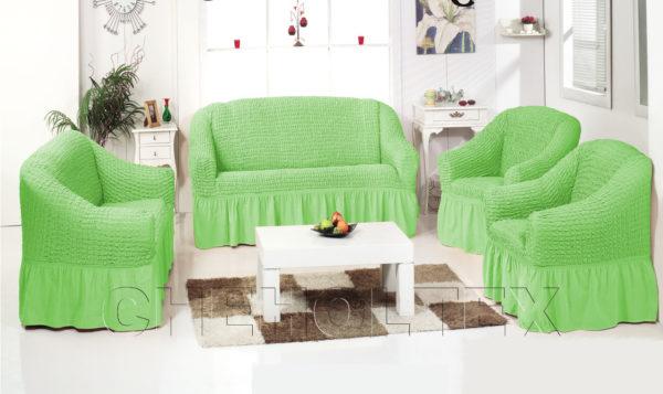 Чехол на 2-х местный диван, цвет фисташковый