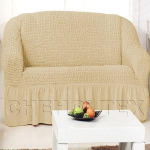 Чехол на 2-х местный диван, цвет какао