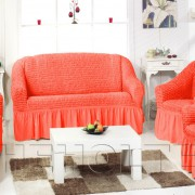 Чехол на 2-х местный диван, цвет коралловый