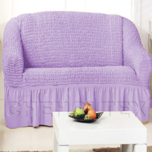 Чехол на 2-х местный диван, цвет лиловый