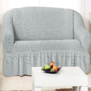 Чехол на 2-х местный диван, цвет серый