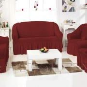 Чехол на 3-х местный диван, цвет бордовый