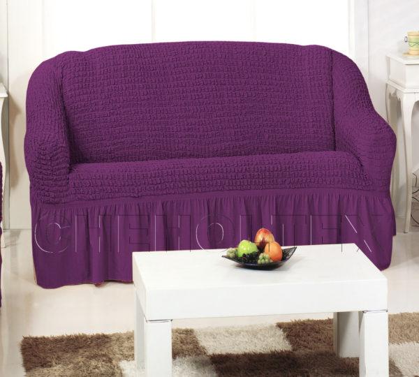 Чехол на 3-х местный диван, цвет фиолетовый (слива)