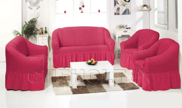 Чехол на 3-х местный диван, цвет фуксия