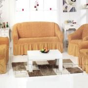 Чехол на 3-х местный диван, цвет горчичный