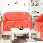 Чехол на 3-х местный диван, цвет коралловый