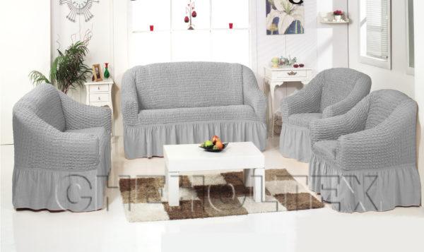 Чехол на 3-х местный диван, цвет Серый