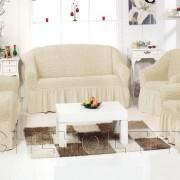 Чехол на 3-х местный диван, цвет слоновая кость