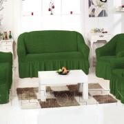 Чехол на 3-х местный диван, цвет зеленый