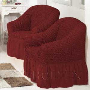 Чехол на кресло, цвет бордовый
