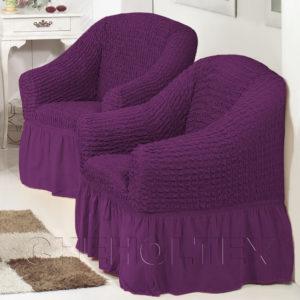 Чехол на кресло, цвет фиолетовый (слива)