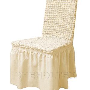 Чехол на стул, цвет слоновая кость