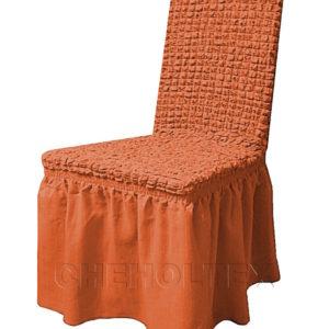 Чехол на стул, цвет терракот