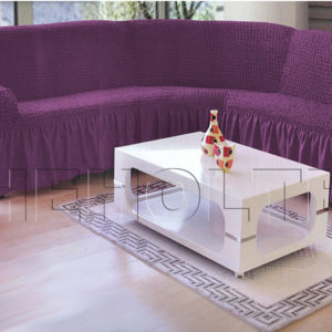 Чехол на угловой диван, цвет фиолетовый (слива)