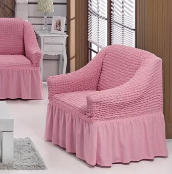 Чехол на кресло, цвет Светло-розовый
