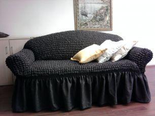 Чехол на 3-х местный диван, цвет Темно-серый